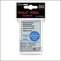 Ultra Pro - Board Game Sleeves Mini American - 41x63mm