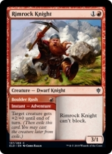 Rimrock Knight / Boulder Rush