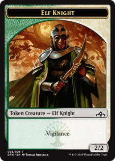 Elf Knight Token (2/2)