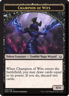 Champion of Wits Token (4/4)