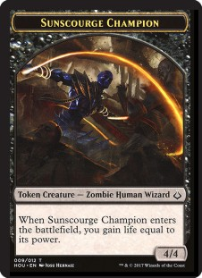 Sunscourge Champion Token (4/4)