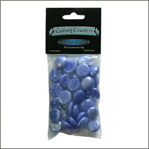 Opaque Gaming Counters - Marble Blue